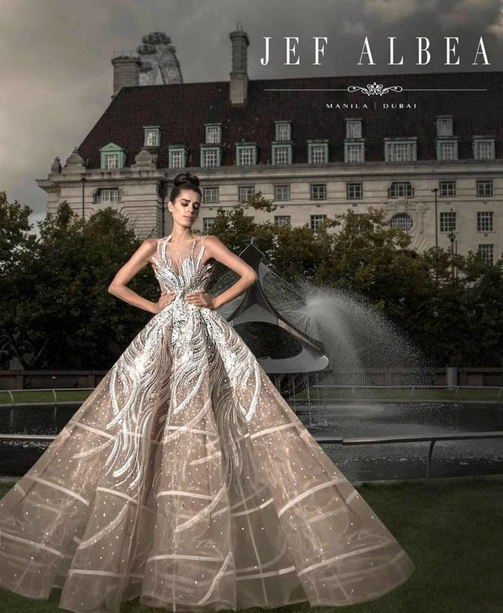 Filipino fashion designer Jef Albea showed his bridal collection ...